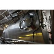 Cuve horizontale inox 316 isolée env. 24000 Litres